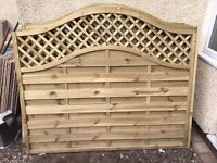 Garden fence panels, brand new unused. 8 panels cost £45 each £360. Selling £30 each or £200 total
