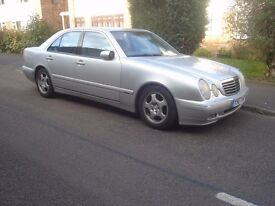 Mercedes E320 Auto. Good condition . Air-con,silver & leather. MOTs good history. 80K recent service