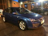 08 FORD FOCUS 1.8 ZETEC 5DR ALANTIC BLUE MET DRIVES AND LOOKS GREAT 12 MONTHS MOT SERVICE HISTORY