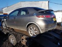 HONDA CIVIC 2006 2.2 CDTI 5 DOOR IN SILVER FOR BREAKING ONLY FOR SPARE PARTS
