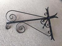 Wrought Iron Hanging Basket Brackets