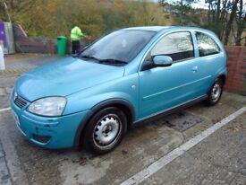 Vauxhall Corsa 1.2 Petrol 3 Door Hatch, MOT Aug 18, Full New Exhaust, 4 x Good, 3 mnth old tyres, CD