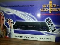 KARAOKE CD MULTI FORMAT PLAYER RECORDER BOXED AS NEW