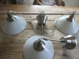 Set of Ikea pendant lamps, one double, one single