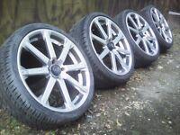 "18"" Alloy wheels 4x100 Mini Vauxhall Corsa Rover MG 215/35/18"