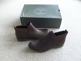 NEW 'Timberland' Ladies Leather Ankle Boots Size 8