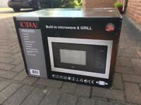 CDA built in/ integrated 900w microwave/ grill - BRAND NEW