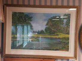 Large oil painting The K Club Kildare