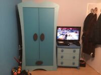 Boys blue ikea bedroom set one wardrobe an chest of draws