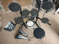 Roland TD-6 electronic drum kit with extras