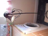 Floor standing Black metal lamp