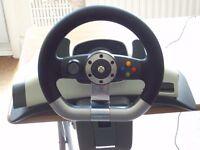 microsoft xbox 360 steering wheel