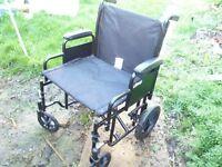 Barriatric transfer wheelchair, as new.