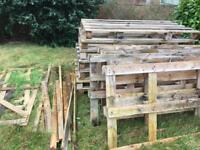 Assorted pallets and wood strips - FREE