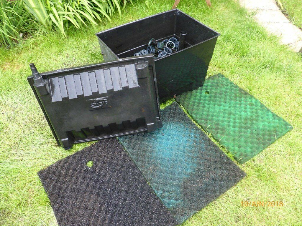 Cyprio Pond Filter Box Complete With Medium And 3 Foam Filters