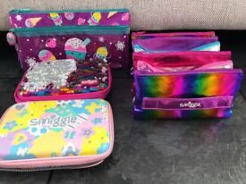 4 Smiggle pencil cases