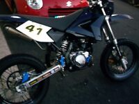 supermoto moped,easy project,2 stroke.