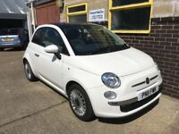 Fiat 500 Lounge 1.2 2011 (11) 60,031 miles Glass Roof - Aux - Blue&Me Handsfree - Cambelt Replaced