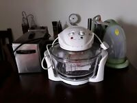 Halogen oven with extender, air fryer and cooker books