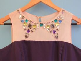 Purple Party Dress with Jewells by Teatro