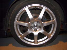 "Subaru Impreza 17"" Innovit Redline Alloy Wheels & Tyres 5x100 WRX Sti RA Turbo 2000"