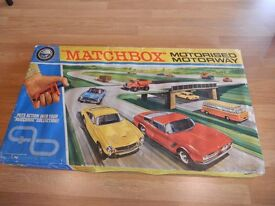 Rare Boxed Vintage Matchbox Toy cars - Motorised Motorway and vintage diecast cars