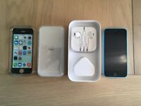 Apple iPhone 5c - 16GB - Blue EE can be (Unlocked) A1507 (GSM) and Case