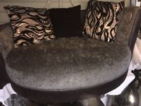 Cuddle Sofa With Footstool.