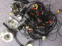 Assortment computer Hi Fi cables