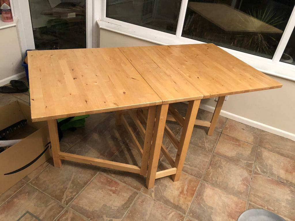 Solid Wood Ikea Norden Gateleg Folding Drop Leaf Dining Table In Camberley Surrey Gumtree
