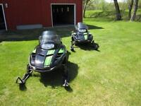 Two - 2002 Z440 Arctic Cat Fan Cooled Snowmobiles