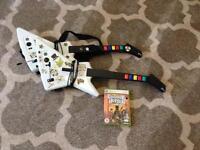X box 360 Guitar Hero III Wilson Gibson wired guitars x2