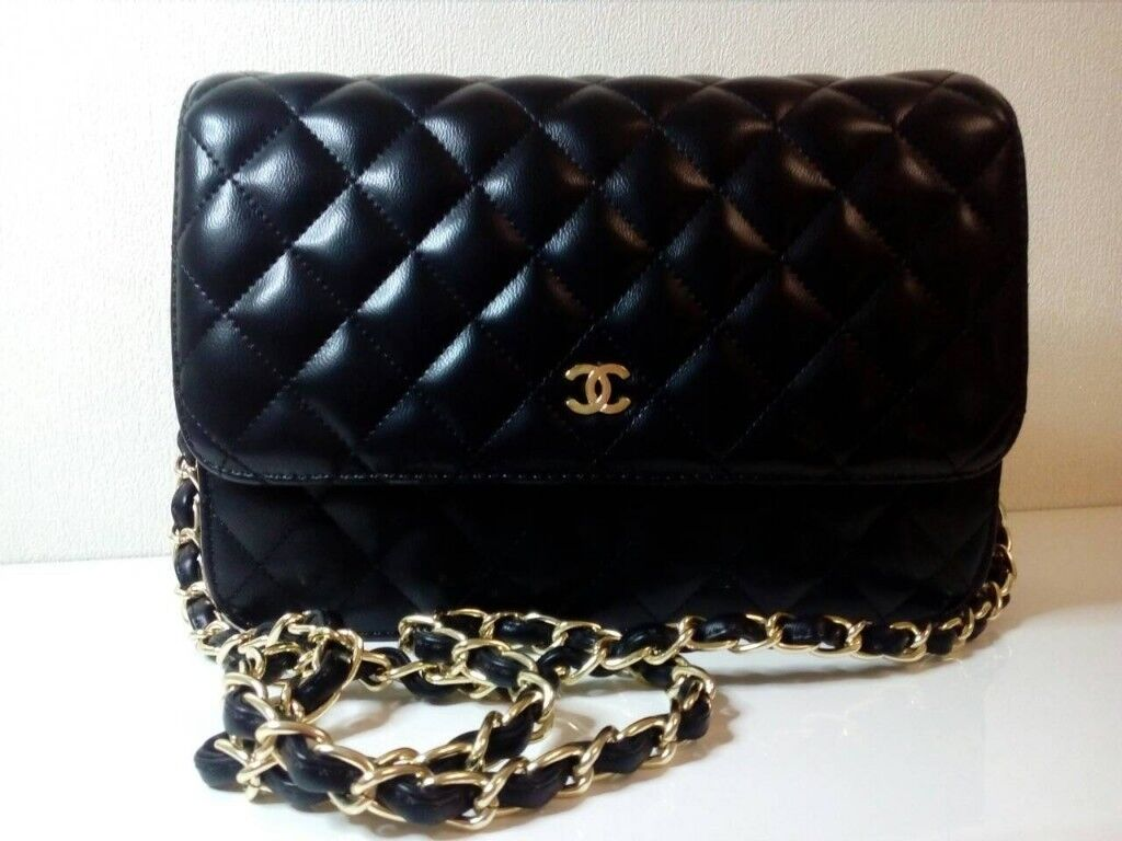 e2b179031fa4 Chanel small bag on a Chain. Black with gold hardware. | in ...