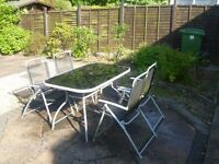 Garden Table and 4 Chair Set