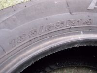 One Car tyre 185/65 R14 nearly new.