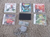 nintendo dsi console with games