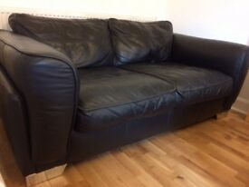 Black Italian 2 seater sofa for sale