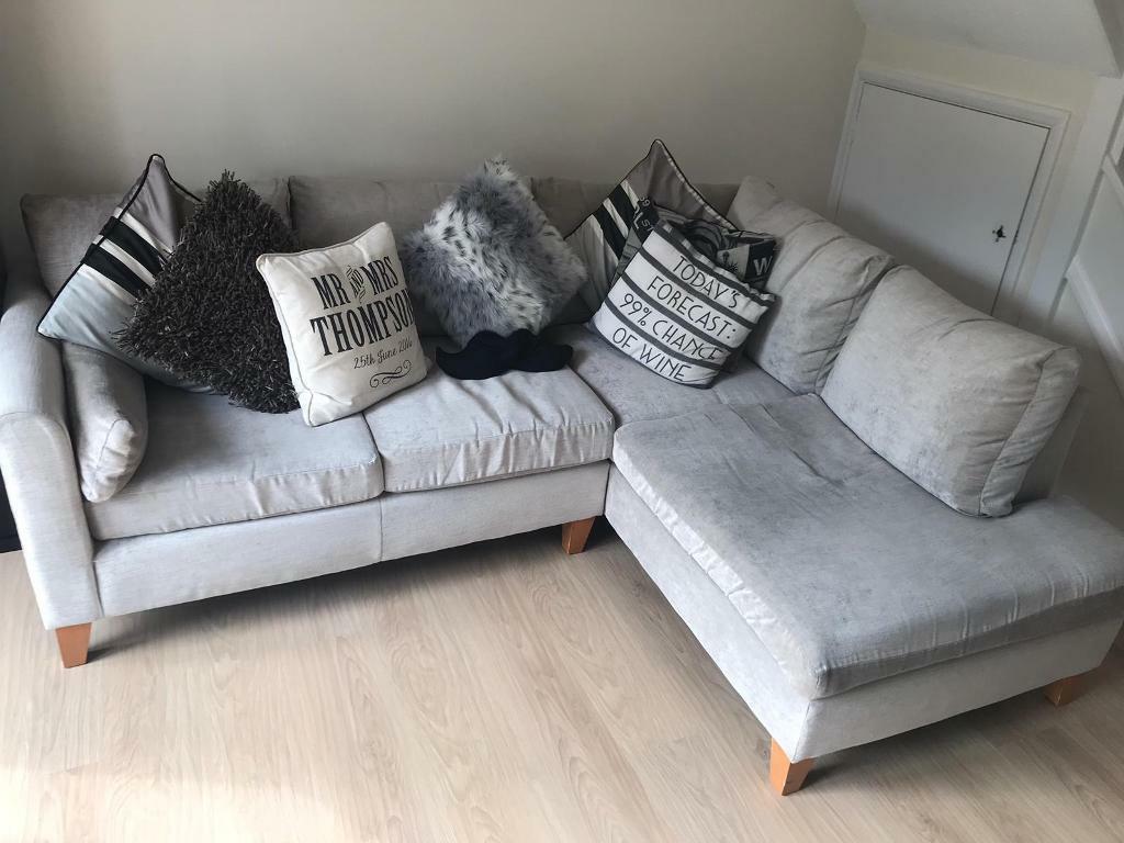 Next Grey Small Left Hand Corner Sofa