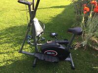 York 3100 Mag Elliptical cross trainer and weights