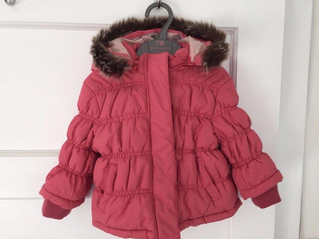 Brand new baby girl padded coat, 6-9 months