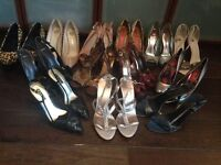 "Job Lot ""BARGAIN"" 13 pairs of ladies heels size 7 and 8"