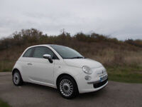 FIAT 500 LOUNGE HATCHBACK BRILLIANT WHITE £30 TAX FULL MOT BARGAIN £1950 *LOOK* PX/DELIVERY