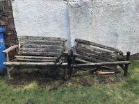 Broken benches
