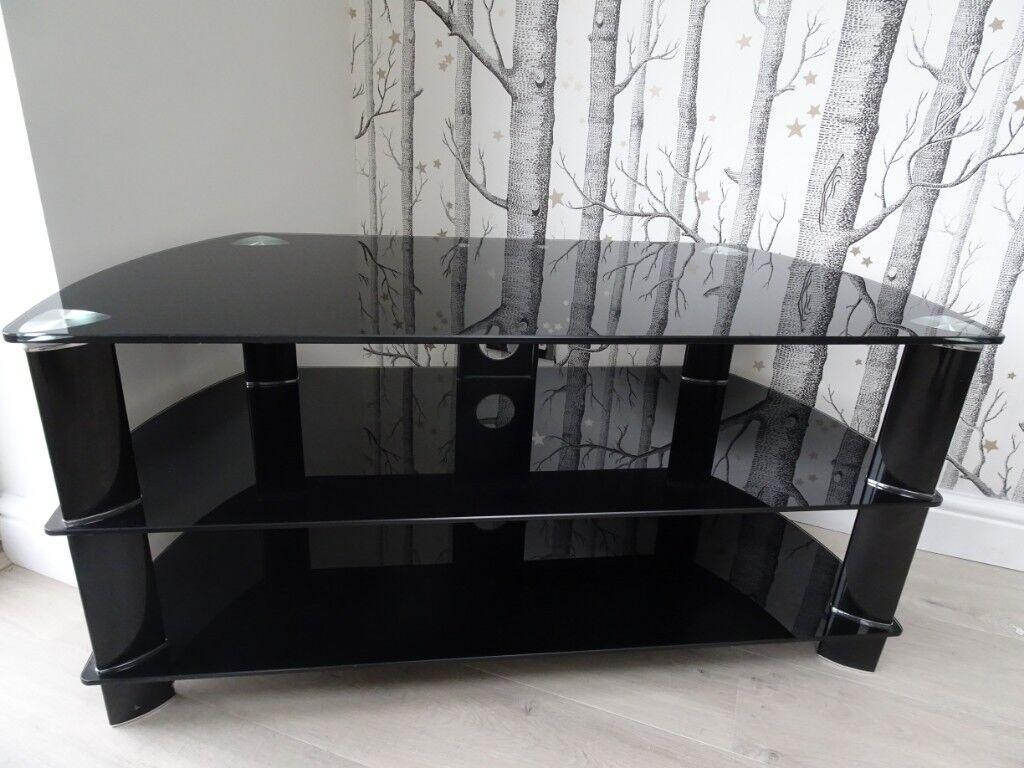 Modern Black Glass Tv Stand In Liverpool Merseyside Gumtree