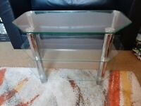 Large Glass & Chrome TV Stand