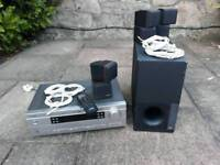 Bose speakers, subwoofer and amplifier