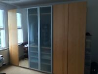 3 metres wide wardrobe furniture, huge space, ikea PAX units