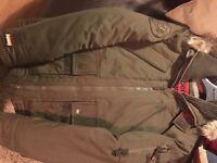 Mens superdry patrol parka green coat, large £35