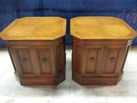 Pair of Hespeler Nightstand Tables Solid Wood High Quality