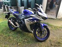 2016 Yamaha R3 no MOT required